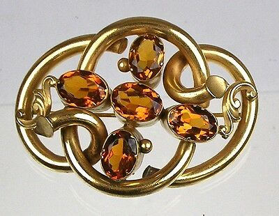 Huge Antique English Victorian Love Knot Brooch Paste Stunning RARE EPVG004
