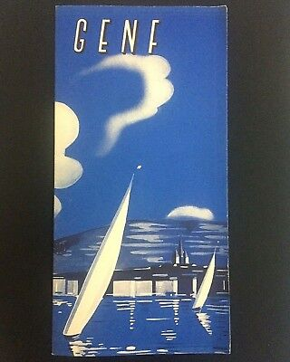 Vintage Genf Swiss Switzerland Information Travel Leaflet Booklet Holidays 1948
