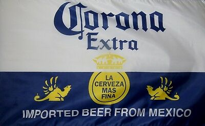 """Corona Extra Beer Flag 3' X 5' Quality Party Bar Decoration Banner """"USA Seller"""""""
