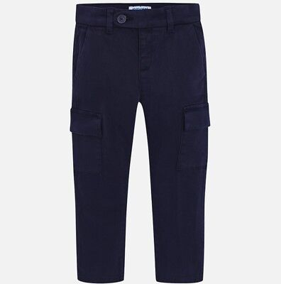 New Boys Mayoral Chino Trousers Cargo Fit , Age 2 Years , (4500)