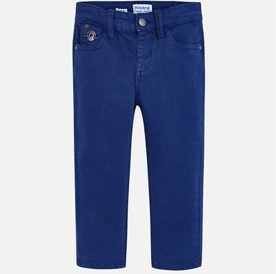 New Boys Mayoral Stretchy Twill Trousers Slim Fit , Age 2 Years , (4514)