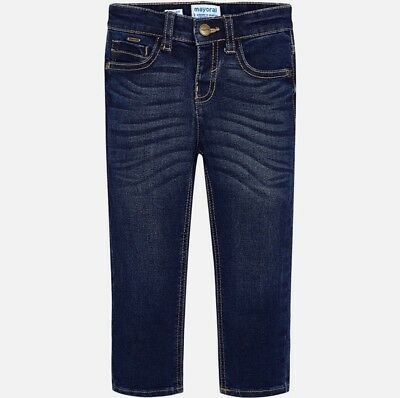 New Boys Mayoral Denim Slim Fit Trousers , Age 2 Years , (504)