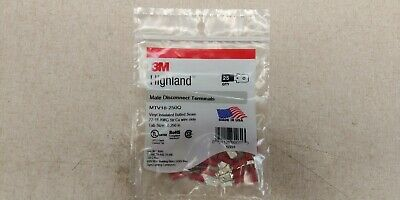 NEW 3M MTV18-250Q Highland 0.25 Vinyl Insulated Male Disconnect Terminal 22-18