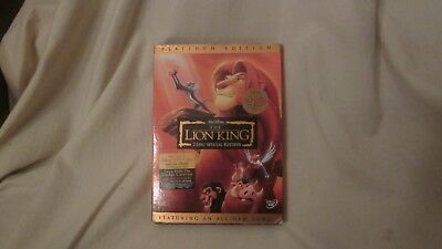 Walt Disney The Lion King (DVD, 2003, 2-Disc Set, Platinum Edition) w/Slipcover