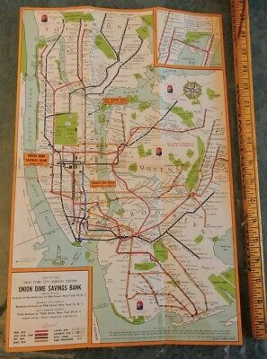 Subway Map Before 1933.Rare 1937 New York City Subway Map Nyc Ind Ind 1933 Brooklyn