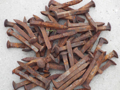 "Lot of 25 Railroad Spikes Vintage Antique Rustic Iron 6.5"" Nails, Free Shipping!"