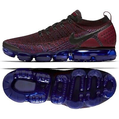 Nike Air VaporMax Flyknit 2 942842-006 Black/Team Red/Racer Blue Men's Shoes