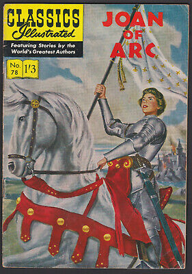 Vintage British Classics Illustrated: JOAN OF ARC No.78 HRN126 1/3