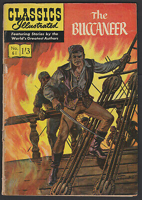 Vintage British Classics Illustrated: THE BUCCANEER No.61 HRN129 1/3