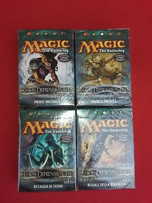 Magic Caos Dimensionale Set Completo 4 Mazzi Tematici Italiano MTG   Sigillati