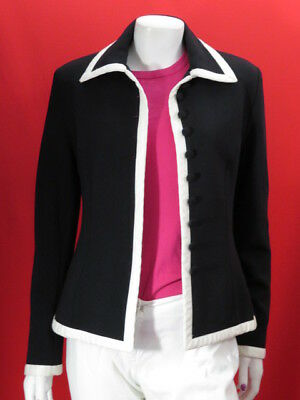 Xavanne French ladies black jacket with white trim  EU 38  UK 8-10