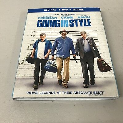 Going In Style: Blu-Ray + DVD + Digital HD, w/ Slipcover, New Sealed