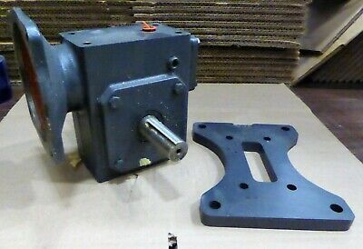 Hub City Worm Gear Reducer Right 0220-61228 With Mounting Base 0229-01750