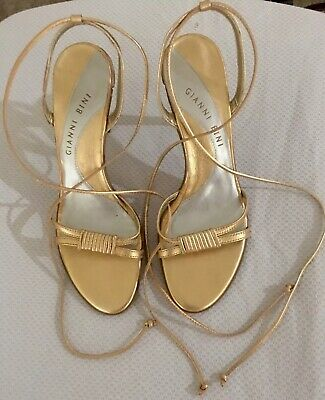 08d103877b1 GIANNI BINI -Womens Shoes Size 8M , Gold lace Up High Heel Shoe, Pre Owned