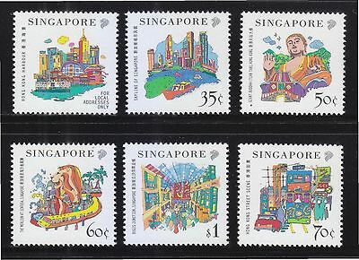 Singapore 1999 Hong Kong Joint Issue (Attraction) Comp. Set Of 6 Stamps Mint