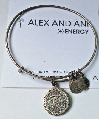 Alex and Ani Russian Silver Eye of Horus Expandable Bracelet  ❤️