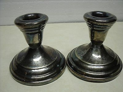 Antique vintage Set of 2 FB Rogers Silver plated Candle Stick Holders Up for auc
