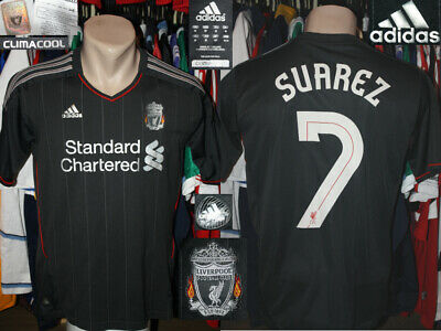 c7a25cd0258 ADIDAS SUAREZ LIVERPOOL Jersey Climacool Standard Chartered Red Men ...