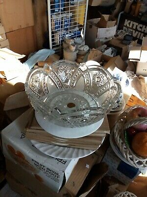 24% Lead Crystal Fruit Bowl.26cm.