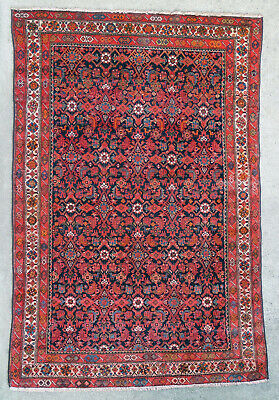 Tapis ancien rug oriental orient tribal ethnique Persan Perse Malayer 1950