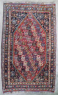 Tapis ancien rug oriental orient tribal ethnique Persan Perse Ghashghaï 1950