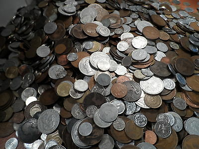 British plus World Coins.from 1800 to 1900s 100 COIN bulk lots