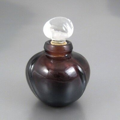 Vintage French Miniature Empty Perfume Bottle, Amethyst Glass, Dior, Poison