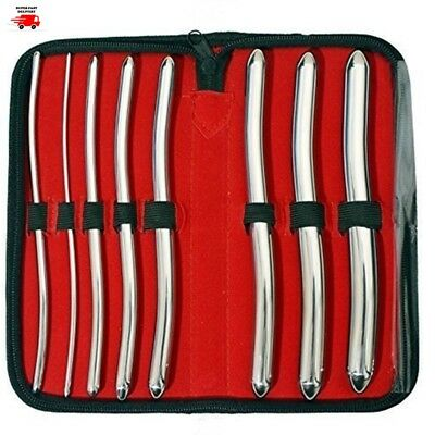 Hegar Dilator Urethral Uterine Sounds Surgical Gyne Instruments 8 PCs Set CE