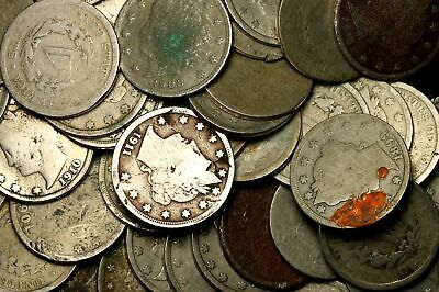"""MIXED DATE ~**LOT OF 50**~ Liberty """"V"""" Nickel USA Rare Old Antique Coin!! #9G"""