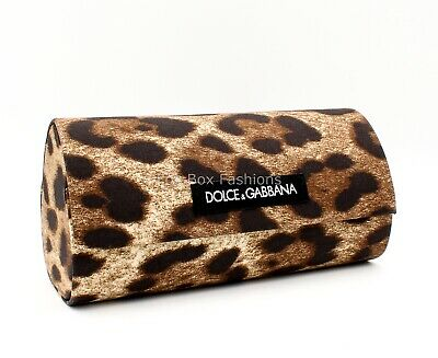 Dolce & Gabbana Sunglass Hard Case ~ Magnetic Snap ~ Leopard Print ~ Large Size