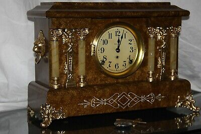 ANTIQUE SETH THOMAS SHELF MANTLE CLOCK-Totally!!-Restored- c/1909