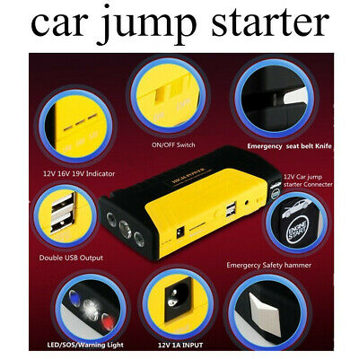 Car Jump Starter Charger Adapter 2 USB Ports for Car/Phone/Laptop 12V Power Bank