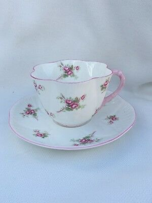 Shelley Bridal Rose Tea cup Saucer Set 13545 England Fine Bone China Teacup