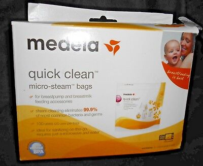 Medela Quick Clean Micro Steam #87024  Microwave Bags 6ct  New, open box