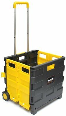 Rolson 68900 Folding Boot Cart Folding Box Trolley Shopping 25kg Boot Cart Black