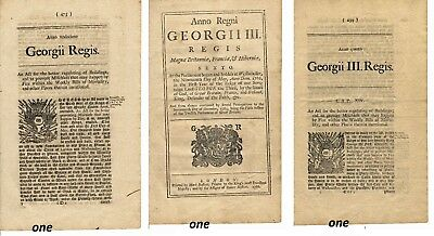 George III 1761 American Revolution period original hand printed book 38 pages