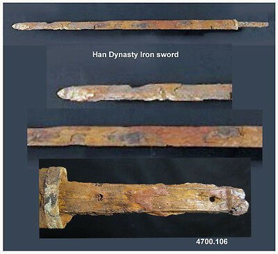 Ancient Han Dynasty Chinese excavated iron sword Jian - rare museum piece