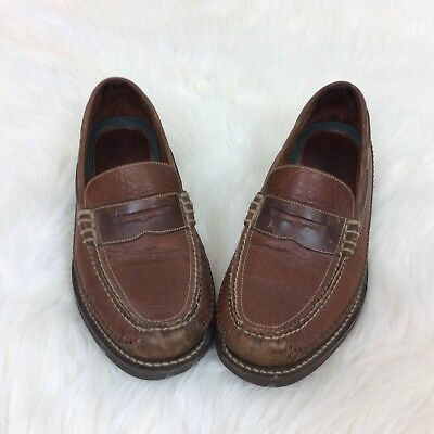 657aef7ba7a HS Trask Men s Leather Loafers Shoes Slip On 9M Vibram Gumlite Soles Made  Brazil