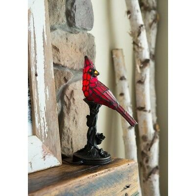 Table Lamps For Living Room Tiffany Style Cute Cardinal Accent Night Bird Light