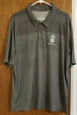 Men's NFL Sunday Ticket 25 Years gray Polo Shirt Size XL *SEE DESCRIPTION*
