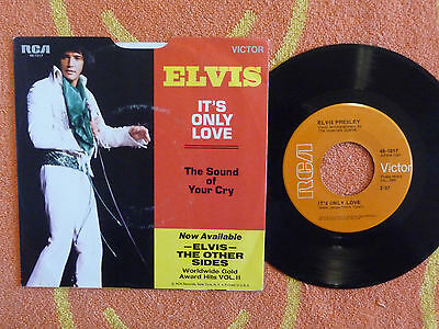 ELVIS PRESLEY It's Only Love 45 rpm w/ PICTURE SLEEVE RCA Victor 1971