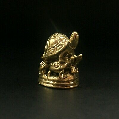 Miniature Sea Small Turtle Tortoise Figurines Statue Metal longevity Feng shui