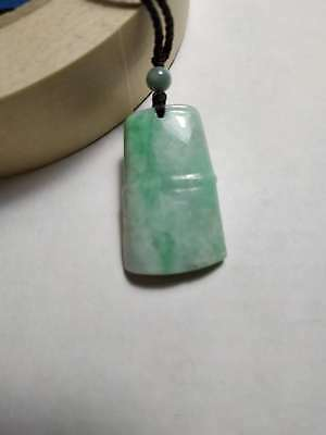 Grade A 100% Natural Genuine Burmese Jadeite Jade Bamboo Pendant Necklace #88