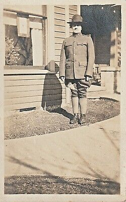 Vintage Postcard Unidentified WWI Soldier Army RPPC~ Real Photo Postcard