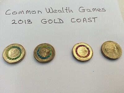 Australian Two Dollar $2 coins ~ commonwealth games SET - All circulated ~ 2018