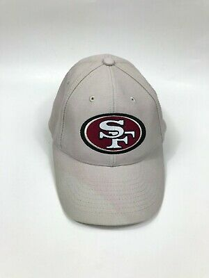 huge selection of e74b8 16e27 Adult OSFA NFL SF San Francisco 49ers Tan Red Classic Logo Adjustable Hat  Cap