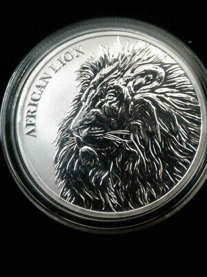 2018 1 oz .999 Fine Silver Republic of Chad African Lion Coin with airtite