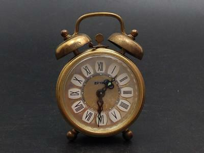 Estyma Brass Alarm Clock West Germany