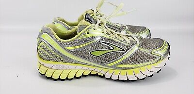 14cd84200c150 BROOKS GHOST 6 Women s Running Athletic Shoes Gray Neon Yellow Volt ...