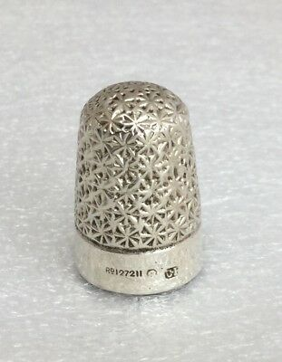 Antique Charles Horner Solid Silver Thimble, Hallmarked 1899, Rd127211, Size 8